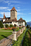 Spiez Castle, Switzerland) Stock Photography