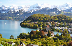 Spiez Castle, Switzerland royalty free stock photos