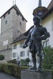 Spiez castle, Switzerland stock image