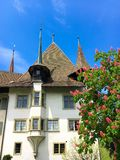 Spiez castle, Switzerland. Spiez castle, Switzerland at spring time Royalty Free Stock Images
