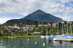 Spiez Harbor, Switzerland Royalty Free Stock Photography