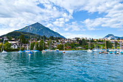Spiez Harbor, Switzerland Royalty Free Stock Photos