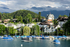 Spiez - la Svizzera Fotografia Stock