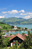 Spiez,Lake Thun,Switzerland Stock Images