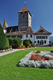 Spiez medieval castle, Switzerland Royalty Free Stock Image