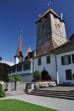 Spiez medieval castle, Switzerland Royalty Free Stock Photo