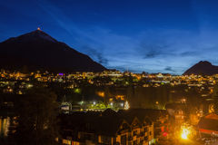 Spiez panorama at night Royalty Free Stock Images