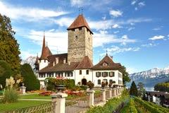 Spiez-Schloss, die Schweiz Lizenzfreie Stockfotografie