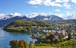 Spiez-Schloss, die Schweiz Lizenzfreies Stockfoto
