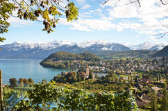 Spiez-Schloss, Switerland Stockfoto