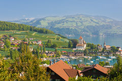 Spiez in a september day Royalty Free Stock Photo
