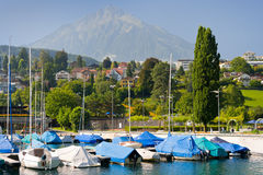 Spiez in a summer day Royalty Free Stock Photos