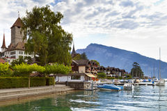 Spiez Village Stock Image