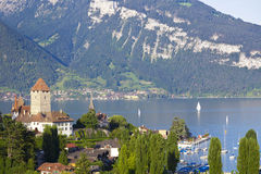 Spiez Village in Lake Thun Royalty Free Stock Photo