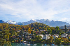 Spiez village Stock Photo
