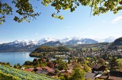 Spiez, Zwitserland stock foto