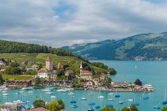 Spiez is, Zwitserland Stock Fotografie
