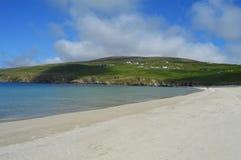 Spiggie fjordstrand på Shetland öar Royaltyfri Bild