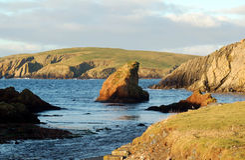 Spiggie, Shetland Islands. A tranquil scene at Spiggie in the South Mainland of the Shetland Islands Royalty Free Stock Photo