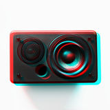 Spigola elettronica musicale dell'altoparlante per basse frequenze dell'altoparlante audio immagini stock libere da diritti