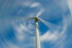 Spiining Windturbine Stockbild