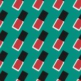 Spijkerlak of nagellak naadloos patroon Royalty-vrije Stock Fotografie