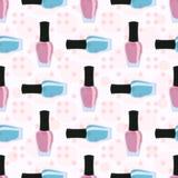 Spijkerlak of nagellak naadloos patroon Stock Foto