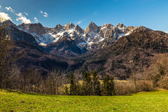 Spik Mountain North Face From Martuljek-Slovenia Royalty Free Stock Photo