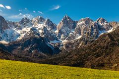 Spik Mountain North Face From Martuljek-Slovenia Stock Images