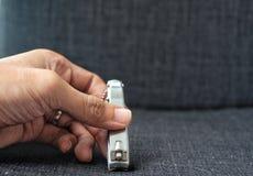 Spika nagelsax för handmanikyr Arkivfoton