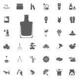 Spika polermedel och att bry sig symbolen Spa och för rekreation fastställda symboler Uppsättning av 33 brunnsortsymboler vektor illustrationer