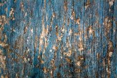 Spikar blå wood bakgrundstextur för tappning med fnuren och hål abstrakt bakgrundsblue Royaltyfria Bilder