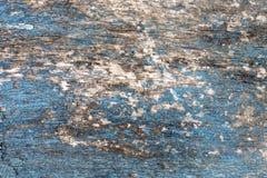 Spikar blå wood bakgrundstextur för tappning med fnuren och hål abstrakt bakgrundsblue Royaltyfri Fotografi