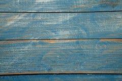 Spikar blå wood bakgrundstextur för tappning med fnuren och hål gammalt målat trä abstrakt bakgrundsblue Royaltyfria Foton