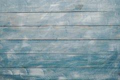 Spikar blå wood bakgrundstextur för tappning med fnuren och hål gammalt målat trä abstrakt bakgrundsblue Arkivbilder