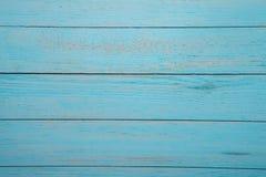 Spikar blå wood bakgrundstextur för tappning med fnuren och hål gammalt målat trä abstrakt bakgrundsblue Fotografering för Bildbyråer