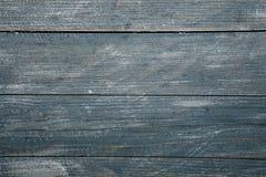 Spikar blå wood bakgrundstextur för tappning med fnuren och hål gammalt målat trä abstrakt bakgrundsblue Royaltyfria Bilder