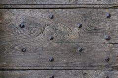 Spikar den tomma mallen åldrats trä med lantligt gammalt textur som abstrac Royaltyfri Bild