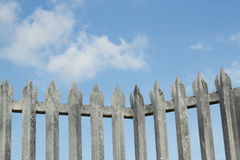 Spike fence. Stock Image