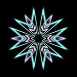Spike gray and cyan kaleidoscope burst royalty free stock image