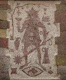 Spike knight. A mosaic picture a the storefront of a tavern in Wuerzburg, Germany royalty free stock images