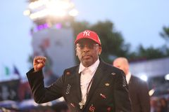 Spike Lee attends the `A Star Is Born` stock photos