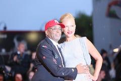 Spike Lee en Tonya Lewis Lee royalty-vrije stock afbeeldingen