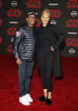 Spike Lee and Tonya Lewis Lee. At the World premiere of `Star Wars: The Last Jedi` held at the Shrine Auditorium in Los Angeles, USA on December 9, 2017 Royalty Free Stock Photography