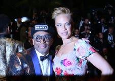 Spike Lee und Tonya Lewis Lee stockfotografie