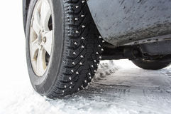 Spike studded tires Stock Image