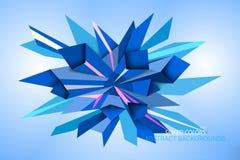 Spiked Blue Colors Shape Scene Stock Photo