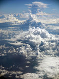 Spiked Cloud Pattern over Ocean Royalty Free Stock Images