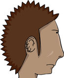 Spiked Hair Man Stock Image