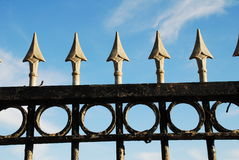 Spiked railings, Hastings Royalty Free Stock Photo